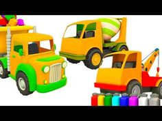 (46) Car Cartoons for Kids: Leo the Truck and Street Vehicles - YouTube