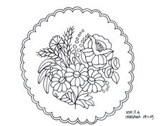 Doily Patterns, Hand Embroidery Patterns, Embroidery Applique, Embroidery Designs, Hungarian Embroidery, Applique Templates, Parchment Craft, Flower Art, Folk Art