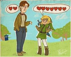 After all the bosses he's beaten, the doctor forgot to collect his heart containers. Doctor Who--Legend of Zelda crossover.