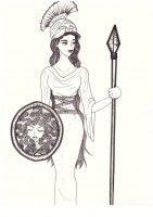 Athena cartoon drawing athena goddess of war and knowledgelovelyhetalia on deviantart Athena Goddess, Senior Home Care, God Pictures, Half Blood, Ancient Greece, Greek Mythology, Cartoon Drawings, Gravity Falls, Deities