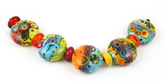 Carnival Beads 5 Large Tabs with spacers by cherswee on Etsy