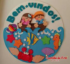 Bem vindos Cute Crafts, Crafts To Make, Foam Crafts, Paper Crafts, Sailor Theme, Baby Applique, Plastic Babies, Acrylic Wall Art, Felt Patterns