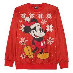 Disney® Men's Mickey Sweater Red : Target