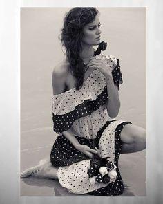 Retro Seaside Editorials - Barabara Fialho Beach Beauty Shoot #beach #fashion #editorial #models #fashion photography