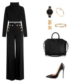 """""""love will remember {selena gomez}"""" by balsam01 ❤ liked on Polyvore featuring Valentino, RED Valentino, Givenchy, Olivia Burton, Christian Louboutin, Repossi and Cartier"""