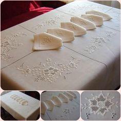 Bordados à mão toalha de mesa