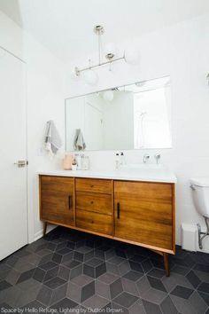 Master Bathroom decorating for the bathroom renovation. Learn master bathroom organization, master bathroom decor tips, bathroom tile opinions, bathroom paint colors, and more. Bathroom Renos, Bathroom Storage, Vanity Bathroom, Bathroom Ideas, Bathroom Remodeling, Bathroom Makeovers, Gold Bathroom, Mosaic Bathroom, Bathroom Shelves