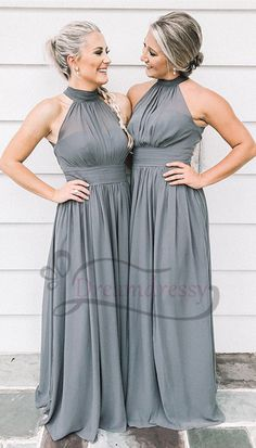 2616953d903 12 Awesome High neck bridesmaid dresses images