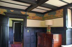Century Bungalow : A Painted Frieze By British Illustrator Lawson Wood