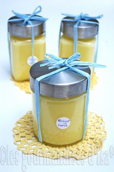 Ginger curd-note: top a tart with this & some peaches. Jam Recipes, Canning Recipes, Sweet Recipes, Dessert Recipes, Banana Oat Pancakes, Salsa Dulce, Fruit Jam, Sweet Sauce, Some Recipe