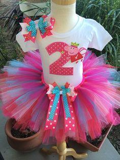 Peppa Pig Birthday Tutu Outfit Dress Set by BooBooKittyBirthdays Pig Birthday, Birthday Tutu, Princess Birthday, First Birthday Parties, Birthday Party Decorations, Party Themes, Skinny Headbands, Elastic Headbands, Cumple Peppa Pig