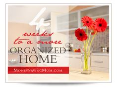 4 Weeks to a More Organized Home-including printable checklist and email sign up
