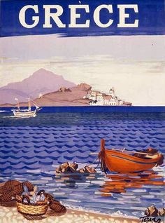 I love vintage travel posters. This one was painted by the famous Greek painter Tetsis and was published on 21 June 1948