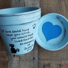 Pet Loss Gift - Pet Memorial - Dog Memorial - Painted Flower Pot - Cat Memorial - Pet Sympathy & 265 Best Pet Memorial Planters images in 2019 | Pet loss gifts ...