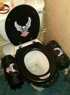 Harley Stool, Saddle Bags And All...How Cute Is That!-- I'd love to get the biker rents this @Chris Cote Darkling