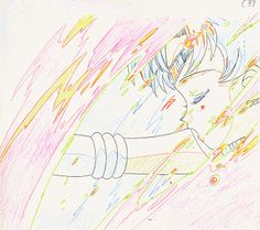 Key frame animations for sailor scouts for the original show