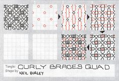 Curly Braces Quad - tangle pattern   Flickr - Photo Sharing!
