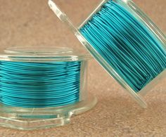 Spring SALE 24 gauge Pacific Blue Wire  by UnkamenSupplies on Etsy, $4.00