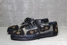 Vtg 90s Black Leather Mesh Clear Star Beaded Club by theindustry, $124.00