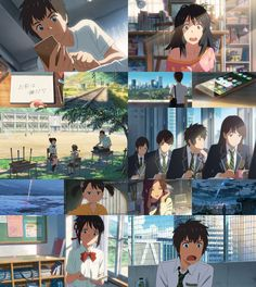 Stuff that happened in the movie. -- Japanese films, Kimi no Na wa, 君の名は, Your Name, characters, scenes, moments