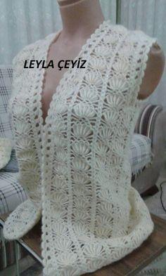 Best 12 Tina's handicraft : crochet bolero pineapple stitch More – SkillOfKing. Gilet Crochet, Crochet Coat, Crochet Motifs, Crochet Jacket, Crochet Blouse, Crochet Clothes, Mode Crochet, Easy Crochet, Crochet Baby