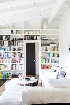 built-in bookcases / sfgirlbybay