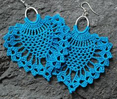 Crochet earrings  Large crochet earrings  Crochete by lindapaula, €11.00