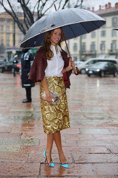 Mailand Fashion Week Herbst/Winter 2014/15 Street Style