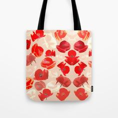 Poppies Tote Bag by dominiquegwerder Paper Bags, Poplin Fabric, Beach Towel, Poppies, My Design, Stress, Reusable Tote Bags, Just For You, Canvas