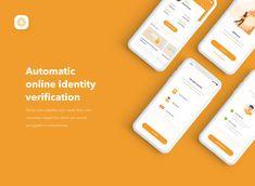 Online Identity Onboarding Mobile App UI UX on Behance – Design is art Mobile Ui Design, App Ui Design, Web Design, Interface Design, Media Design, Layout Design, Ui Portfolio, Portfolio Website Design, Mobile Mockup