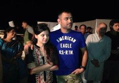 See pics when Sakshi and Dhoni threw a house party for CSK mates