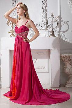 Chiffon Sweetheart Romantic Prom Dress - Order Link: http://www.theweddingdresses.com/chiffon-sweetheart-romantic-prom-dress-twdn1784.html - Embellishments: Beading , Ruched , Sequin; Length: Court Train; Fabric: Chiffon; Waist: Empire - Price: 141.16USD