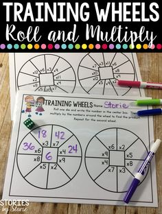 This multiplication dice game freebie is a great way to get your students practicing their multiplication facts! You can use them for fast finishers, homework, game time, or independent work. Multiplication Dice Games, Math Tutor, Math Education, Fourth Grade Math, 4th Grade Math Games, Math Intervention, Math Practices, Math Workshop, Homeschool Math