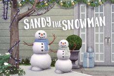 Sandy the Snowman at Hamburger Cakes • Sims 4 Updates