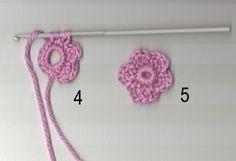 crochet little flower pattern (for 100 flower scarf)