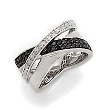 .25ct Black and White Diamond Sterling Silver #Ring http://www.finditforweddings.com