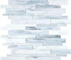 Found it at Wayfair - Baroque x Random Strip Stained Glass Mosaic in Carrara- Bathroom Wall Glass Tile Backsplash, Glass Mosaic Tiles, Wall Tiles, Kitchen Backsplash, Backsplash Ideas, Tile Ideas, Install Backsplash, Tile Mosaics, Marble Mosaic