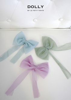 DOLLY by Le Petit Tom ® CHIFFON HAIR BOW | Le Petit Tom ®