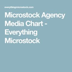 Microstock Agency Media Chart - Everything Microstock