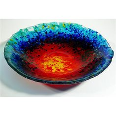 Fused glass bowl- this is a great website for jewelry and home accents