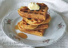 Farmstead Waffles - made with the leftover whey from making yogurt.