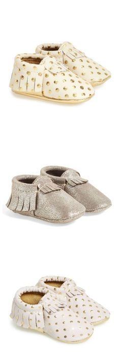 These cute metallic moccasins are perfect for any baby fashionista.