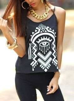 Tribe Pattern Black Tank Tops from Bonanza. Saved to Things I want as gifts. Shop more products from Bonanza on Wanelo. Cute Fashion, Teen Fashion, Fashion Outfits, Womens Fashion, Style Fashion, Pretty Outfits, Cute Outfits, Summer Outfits, School Fashion