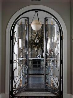 Jean Louis Deniot / wrought iron doors