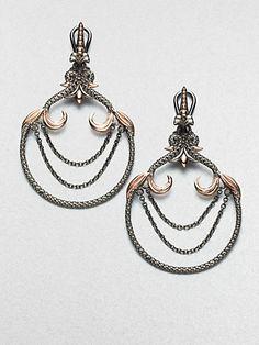 Stephen Webster - Textured Sterling Silver Earrings - Saks.com