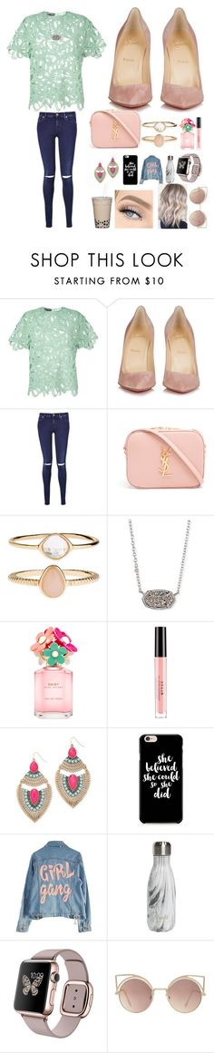 """""""My room is getting a little remodel!!💖🤗"""" by bellarose05 ❤ liked on Polyvore featuring Rochas, Christian Louboutin, 7 For All Mankind, Yves Saint Laurent, Accessorize, Kendra Scott, Marc Jacobs, Stila, Adia Kibur and High Heels Suicide"""