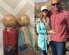 Anna et Elsa inspirent Peg Dolls par WillowAdelaide sur Etsy