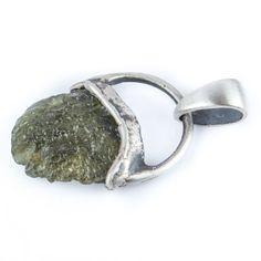 Moldavite 925 Silver Pendant - product images  of SCHJ www.silverchamber.co.uk