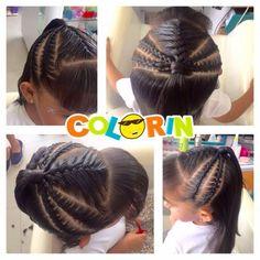 Como ven este peinado >>>> Visitanos en Cll. 7N # 9E-04 Santa Lucia y Av. Libertadores Edif. Torres del Parque - #Cúcuta - #Colombia #cucutacity #cucutaeslomio #braids #braidstyle #hair #hairstyle #ilovebraids #braidsforgirls #instagood Swag Hairstyles, Little Girl Hairstyles, Braided Hairstyles, Natural Braid Styles, Natural Braids, New Hair, Your Hair, Corte Y Color, Beautiful Braids
