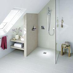 Splendid Small attic renovation ideas,Attic bedroom loft and Attic storage tulsa hills. Loft Bathroom, Upstairs Bathrooms, Small Bathroom, Bathroom Bath, Bath Shower, Bathroom Grey, Bathroom Plumbing, Budget Bathroom, Bathroom Shelves
